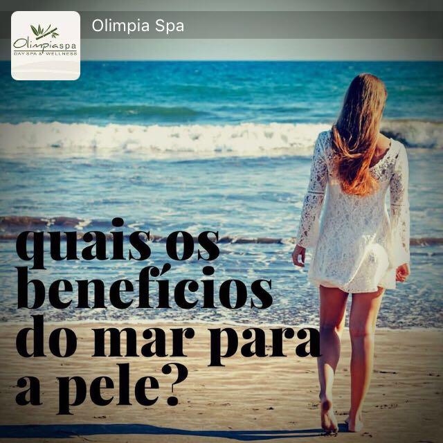 Benefício do mar para a pele